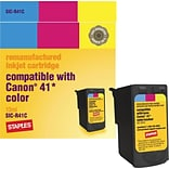 Staples® Remanufactured Inkjet Cartridge, Canon CL-41 (0617B002), Color