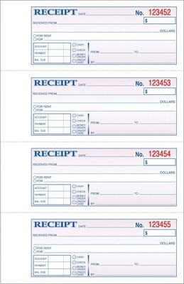 payment receipt book
