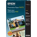 Epson® Photo-Quality Matte Inkjet Paper, 14.9 mil, 13 x 19, 100 Sheets/Pk (S041069)