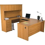 Cappuccino Cherry U-Shaped Workstation