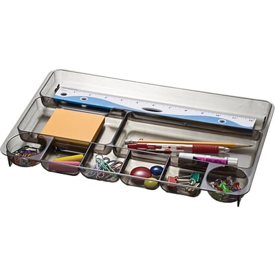 Officemate® Smoke Colored Plastic Drawer Organizer