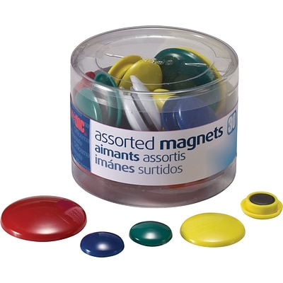 30-Pack OIC Magnets For Metal Presentation Board/File Cabinets