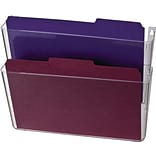 Officemate® Wall Files, 2 Pockets, Letter, Clear, 13 x 4 1/8 x 10 5/8