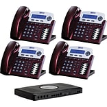 Xblue® X16 Self-Install Digital Telephone System Bundle, 4-Pack, Red