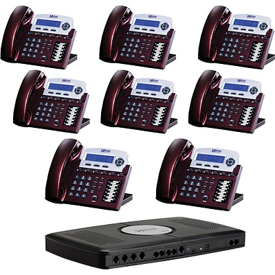 Xblue® X16 Self-Install Digital Telephone System Bundle, 8-Pack, Red
