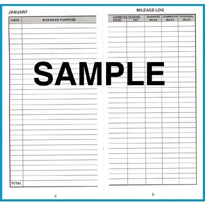 Dome® Auto Mileage Log, 3 1/4 x 6 1/4, Gray