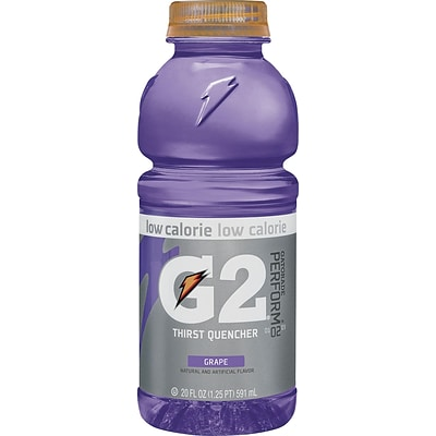 Gatorade® G2 Grape, 20 oz. Bottles, 24/Case