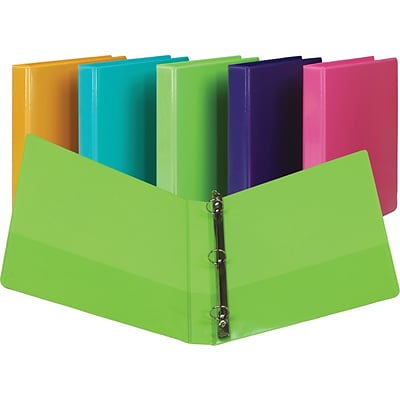 Samsill Presentation 1-Inch Round-Ring View Binder; 2/pack, Lime Green (U86378)