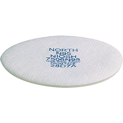 North Safety Particulate Filter, N95, Non-Oil Particulates, 10/PK