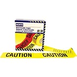 North Safety Barricade Tape, Yellow, 1000 Length
