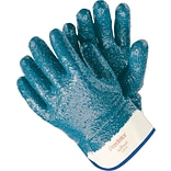 Large Blue Nitrile Fully Coated Gloves