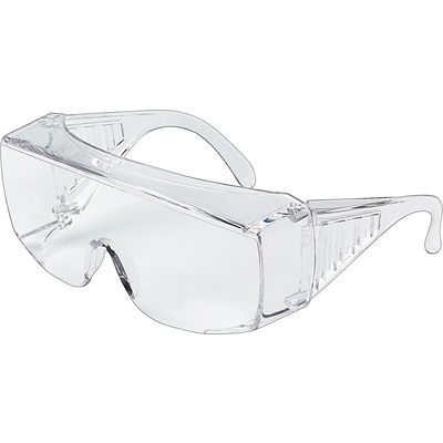 MCR Safety® Crews Protective Eyewear, Polycarbonate, Foldable Temples, Uncoated, Clear
