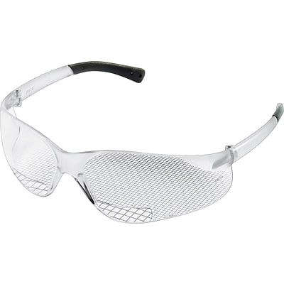 MCR Safety® Crews Magnifier Protective Eyewear, Polycarbonate, Clear, 1.0 Diopter
