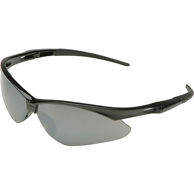 Jackson® Nemesis Safety Glasses, Clear Anti-Fog Lens, Black Frame