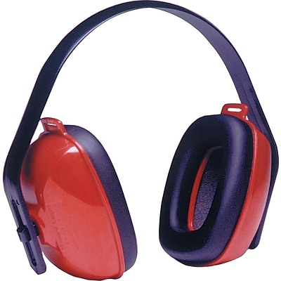 Howard Leight® QM24+® Overhead Earmuffs, Red, 25 dB