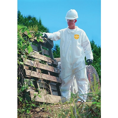 DuPont® ProShield® NexGen® Coverall, 3XL Size, Front Zipper, White, 25/CT
