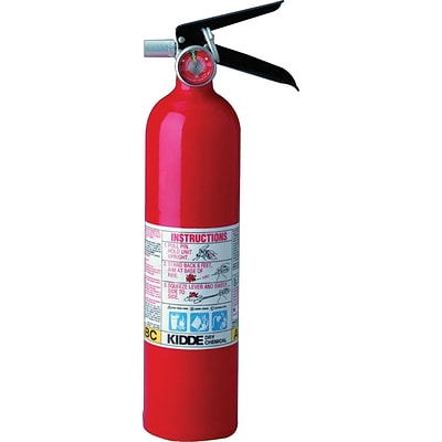 ProLine™ Multi-Purpose Dry Chemical Fire Extinguishers, Aluminum with Retention Bracket, 100 psi