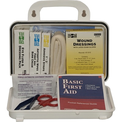 Pac-Kit Weatherproof Plastic First Aid Kit; 76 pieces for 10 People