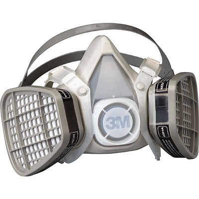 3M™ 5000 Series OH&ESD Half Facepiece Organic-Vapor Disposable Respirator, Medium (1425201)