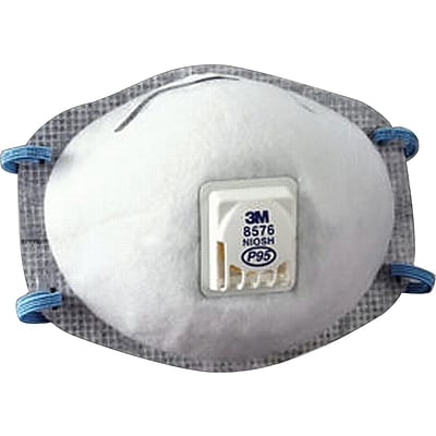 3M™ Disposable Particulate Respirator, 8577, P95, Oil Proof, 10/BX