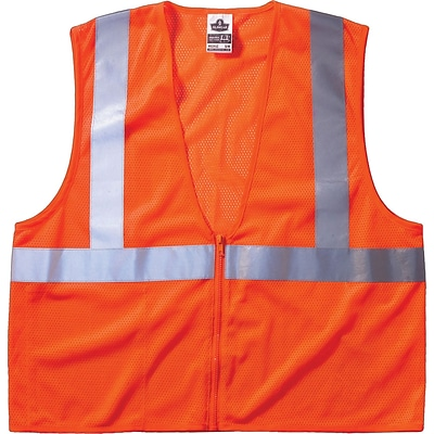Ergodyne GloWear® 8210Z Class 2 Economy Vest, 2XL/3XL, Orange