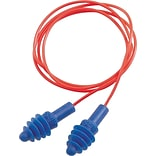 AirSoft Red Poly Cord Blue Reusable Earplugs