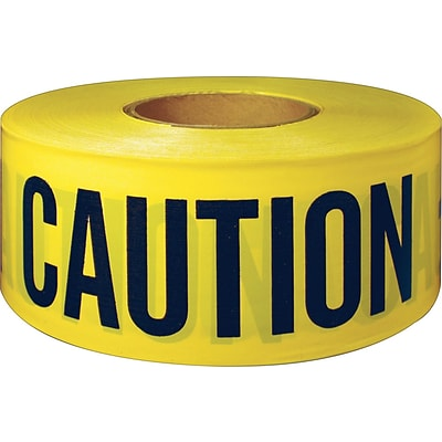 Intertape Polymer Group® Danger Barricade Tapes, Yellow, Caution, 300 Length