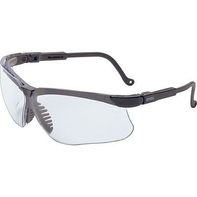 Uvex Genesis® Eyewear, Polycarbonate, Wrap-Around, Ultra-dura Mirror, Black