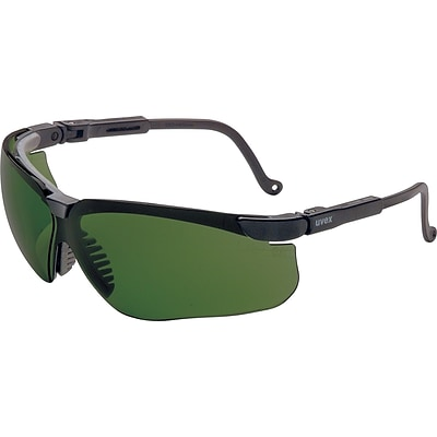 Sperian Genesis® Eyewear, Polycarbonate, Wrap-Around, Shade 3.0 Infra-dura, Black