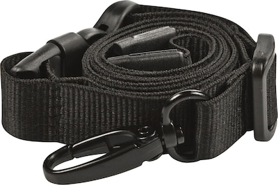 BLACK LOT 25 NECK STRAPS LANYARD WITH HOOK 25 CLEAR VINYL ID BADGE HOLDERS