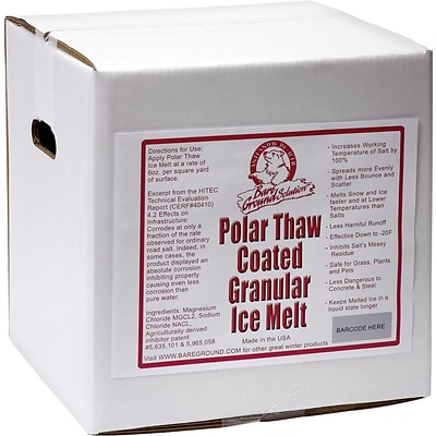 Bare Ground Pet-Friendly Coated Granular Ice Melt, 40 lbs./Box (BGCSBX-40)