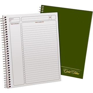 Gold Fibre Wide-Rule Project Planner