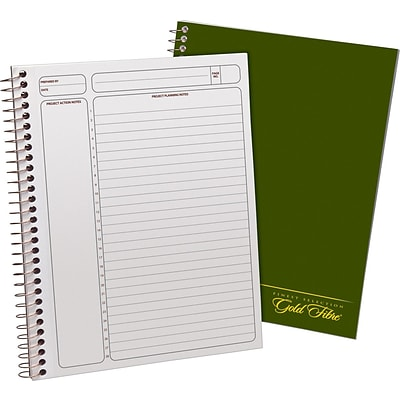 Ampad® Gold Fibre® Classic Project Planner 7-1/4x9-1/2, Wide Ruling, White, 84 Sheets/Pad