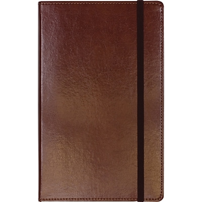 C.R. Gibson Genuine European Bonded Leather Journal, Brown, 5-1/4 x 8
