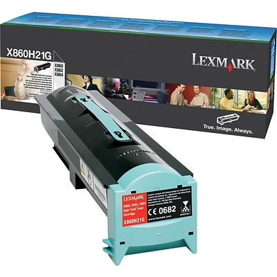 Lexmark X860/864 Black Toner Cartridge (X860H21G), High Yield