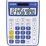 Casio® MS-10VC 10-Digit Display Calculator, Blue
