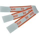 PM Company Currency Straps, White/Orange, 1000/Pk (PFM55026)