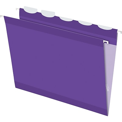 Pendaflex® Ready Tab® Hanging File Folders, Letter, 1/5-Cut, Violet