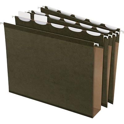 Pendaflex® Ready-Tab® Extra-Capacity Standard Green Hanging File Folders, Letter Size
