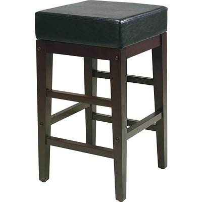 OSP Designs® Metro Faux Leather Bar Stool, 24, Espresso