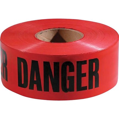 Empire® Level Safety Barricade Tapes, Red, Danger Do Not Enter, 1000 Length