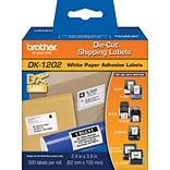 Brother® DK Series Printer Label Tape, 2-3/7X4, Die-Cut