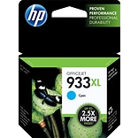 HP 933XL Cyan Ink Cartridge (CN054AN); High Yield