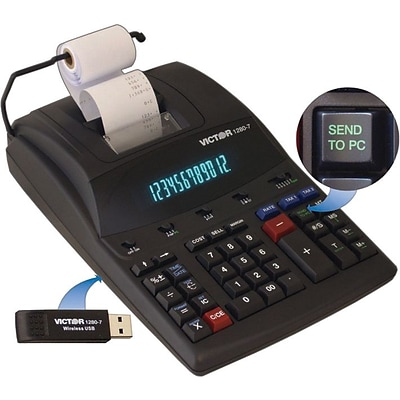 Victor® 1280-7 Heavy-Duty Commercial Printing Calculator with Wireless Data Relay