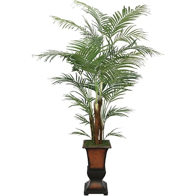 Laura Ashley® 7 Silk Areca Palm Tree in a Decorative Planter