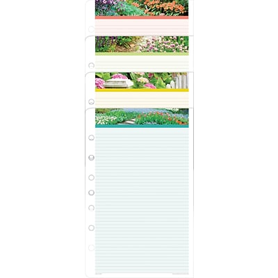 Day-Timer® Garden Path Lined Note Pads, 5-1/2 x 8-1/2