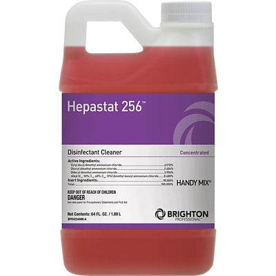 Brighton Professional™ Hepastat 256™ Restroom Cleaner, Handy Mix, Dilutable, 64 Oz.
