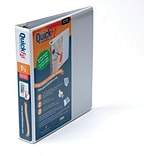 QuickFit® 1-1/2 White D-Ring View Binder