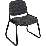 Office Star & trade; Deluxe Sled Base Armless Guest Chair; Onyx
