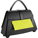 Post-it® Pop-Up Dispenser for 3 x 3 Notes, Black, Purse-Shaped, 1 Pad/Pack (PD654US)